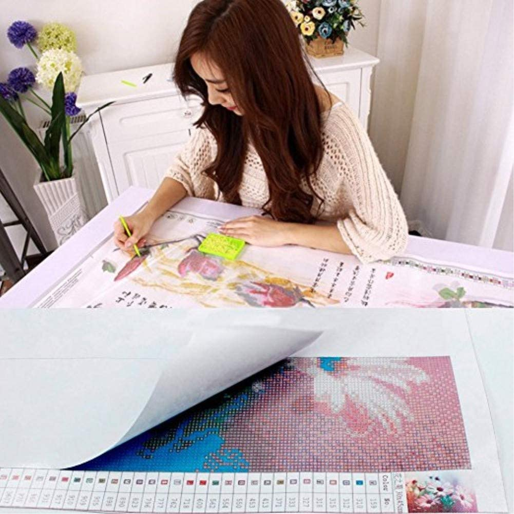 New Full Drill 5D DIY Diamond Painting Kit Diamond Embroidery Painting Pasted Paint by Number Kits Stitch Craft Kit Home Decor Wall Sticker N5, 30 * 45cm