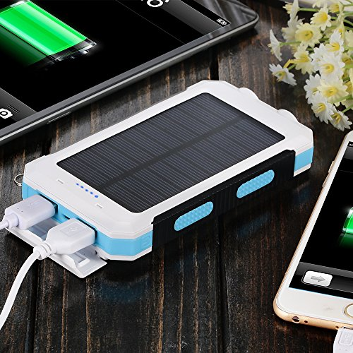 Solar Charger Solar Power Bank 10000mah External Backup Battery Pack Dual Usb Solar Panel