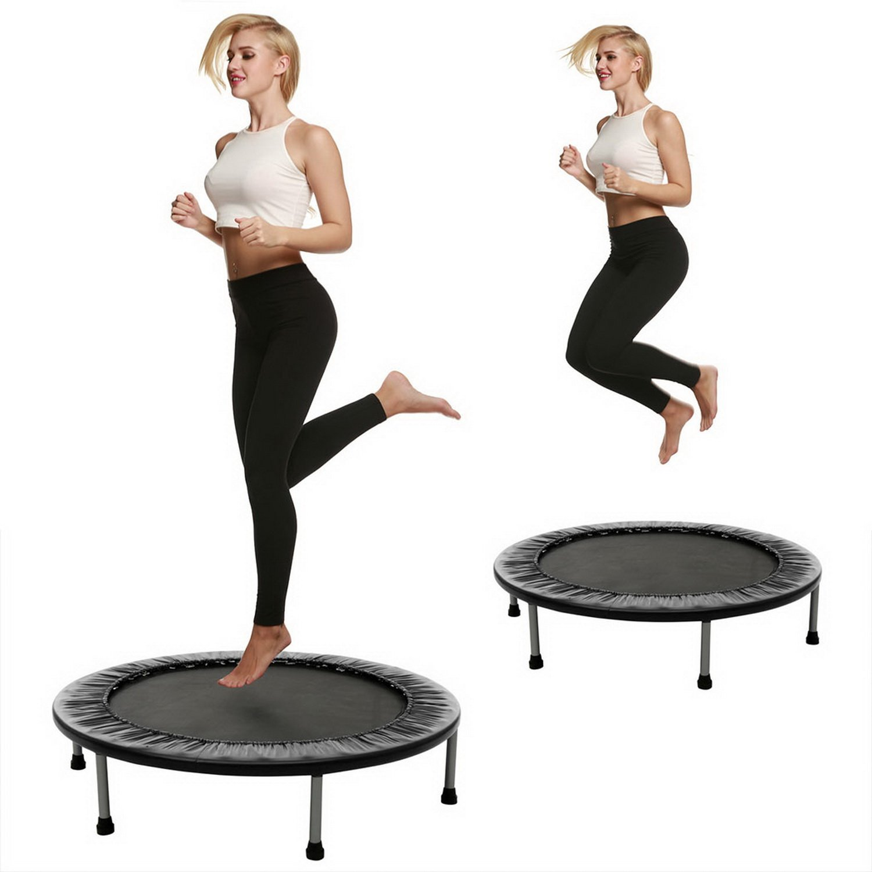Coorun Fitness Trampolin Jumper Indoortrampolin Gartentrampolin, bis max. 100 kg Belastbar, Mit Rutschhemmenden Füßen