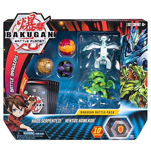 Bakugan Battle 5-Pack Haos Serpenteze & Ventus Howlkor Collectible Cards & Figures ()