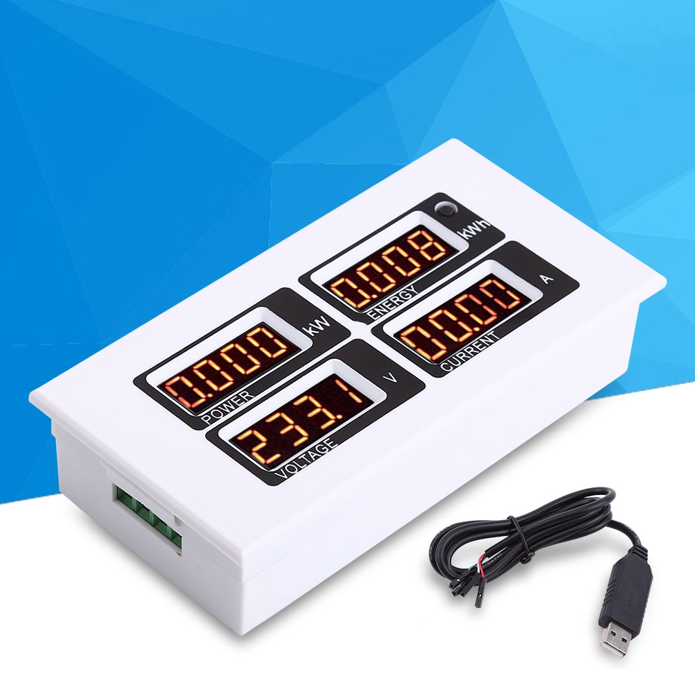AC 80-260V/100A Monitoring Multimeter Current Voltage Power Energy Tester Electrical Multi Testers With CT USB Adapter