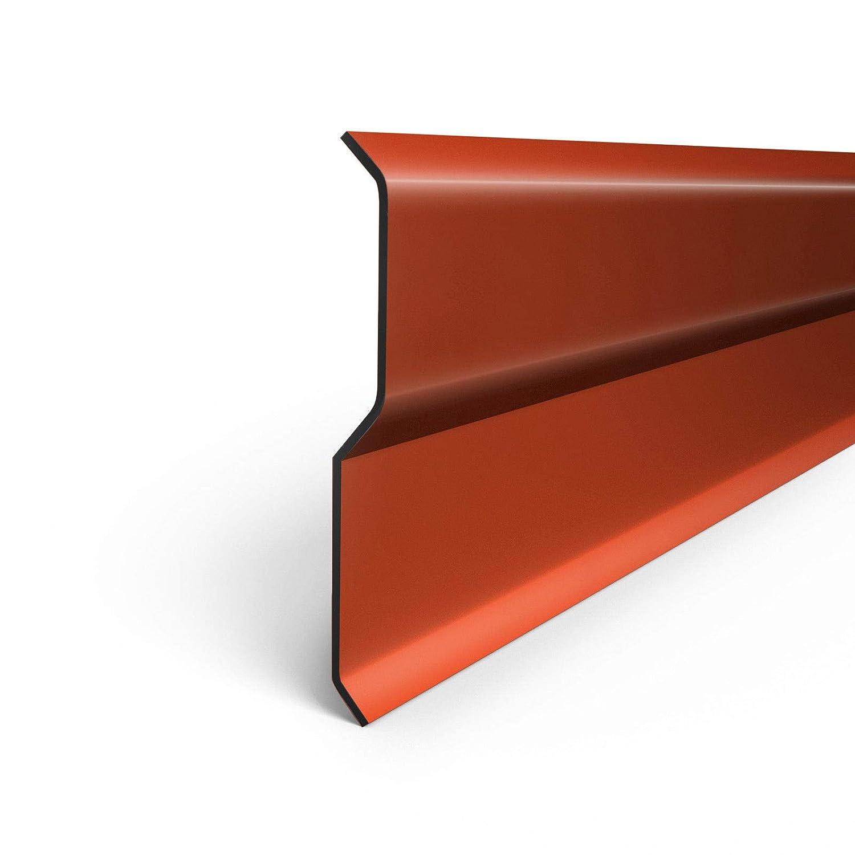Aluminiumblech Wandanschlussleiste Wandanschlussschiene 1 Meter Farbe ZIEGEL
