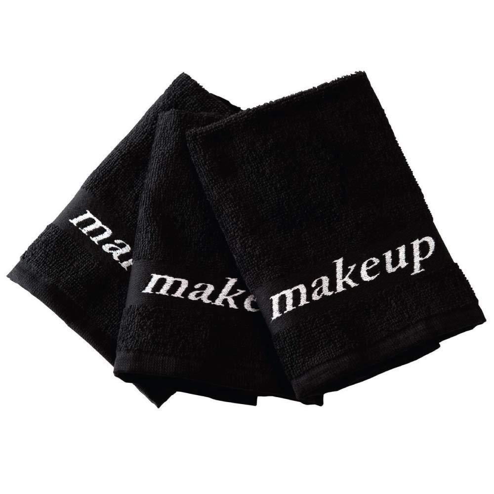 Black Make-up Washcloths, 6 Piece Set