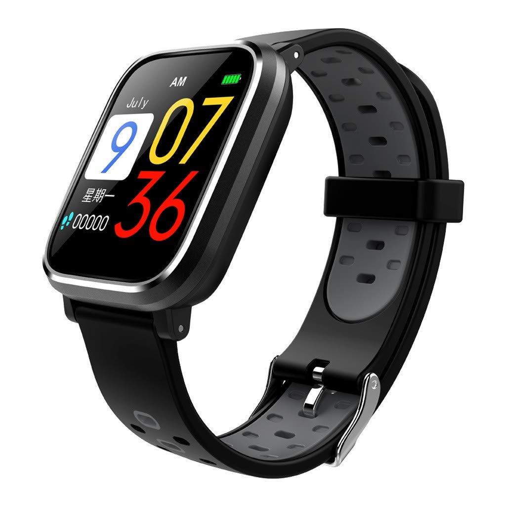 Heart Rate Tracker Blood Pressure Bracelet Smart Watch Sports Fitness Activity (ONE, Gray)