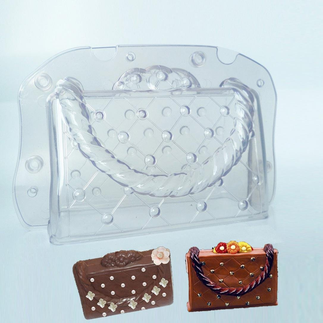 Longay 1pcs 3D Bag Chocolate Mould Candy Cake Jelly Mold Wedding Decorating DIY Random Color