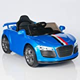 Audi R8 Style Kids 12V Battery Powered Wheels Ride On Car MP3 RC Remote Blue
