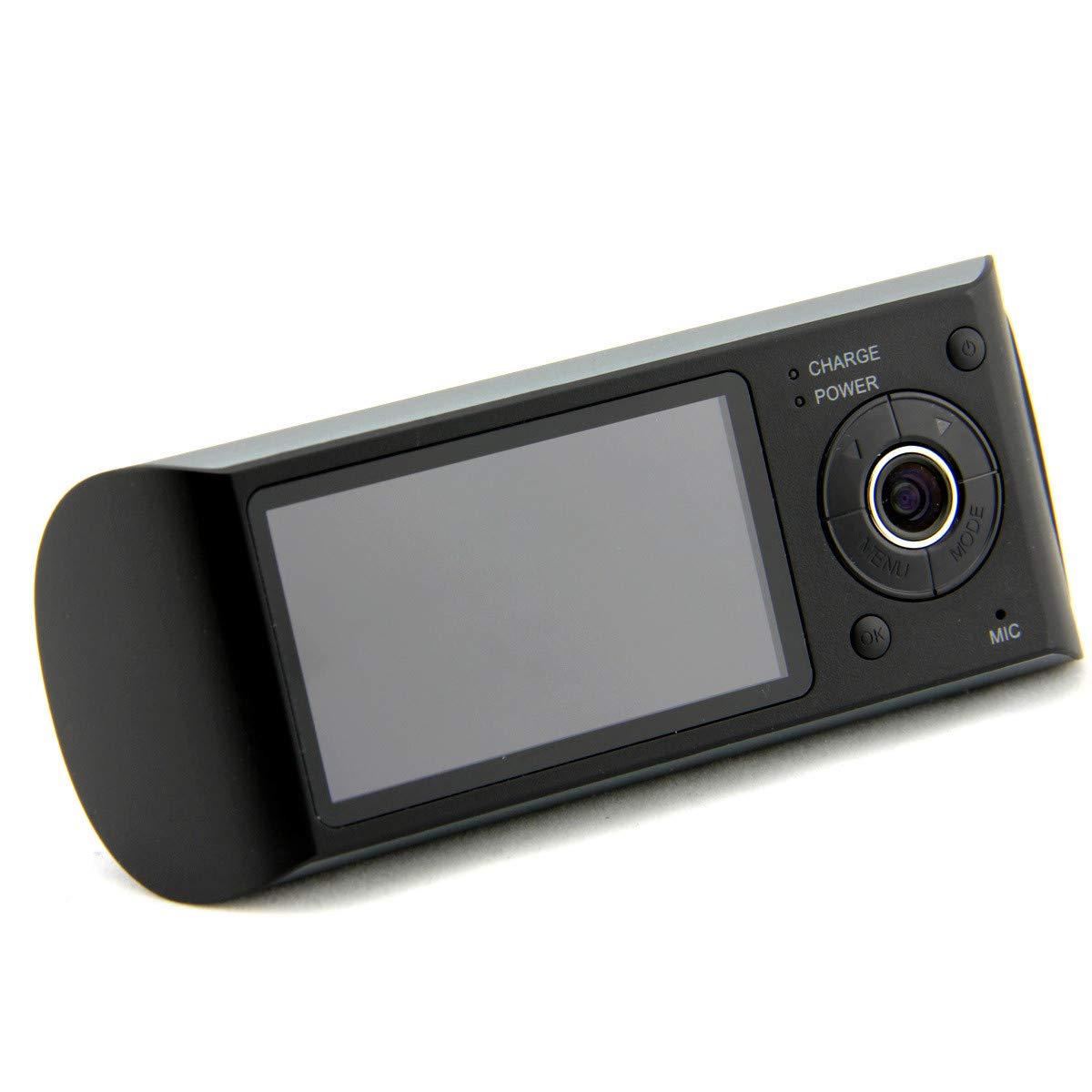 Car DVR Dual Camera Lens w/GPS Tracker - Driving Track, Speed, Time & Date 2.7'' Vehicle Video Recorder Dash Cam G-Sensor