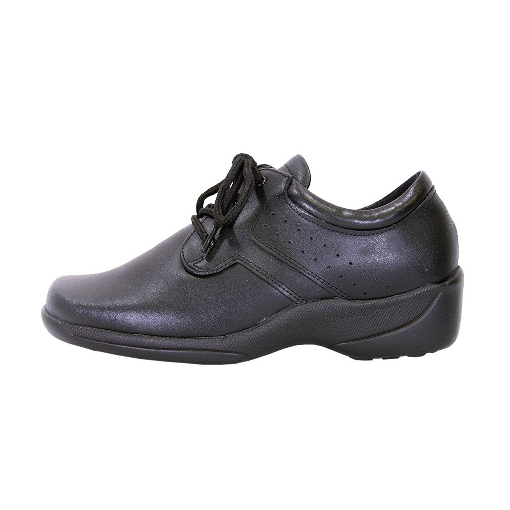 24 Hour Comfort  Meg Women Extra Wide Width Lace up Shoes Black 9 by 24 Hour Comfort (Image #2)