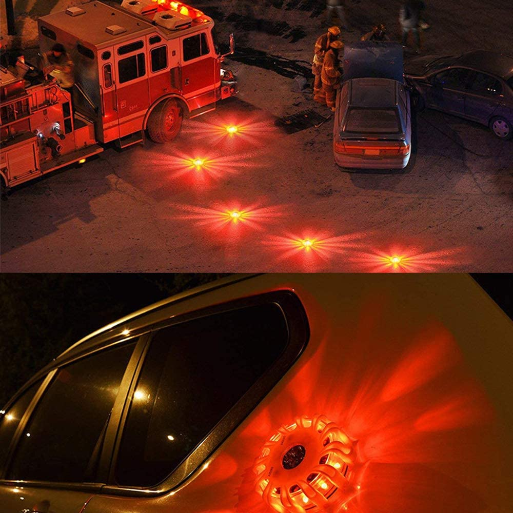 3pcs Safety Flares Warning Signal Flashlight Emergency Roadside Assistance LED Light with 9 Light Modes for Vehicles Car Truck Bike Style A Blue
