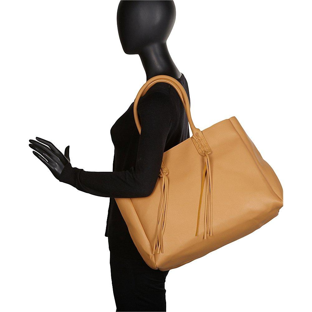 Sondra Roberts Ladies Handbags Nappa Tote With Linen Insert