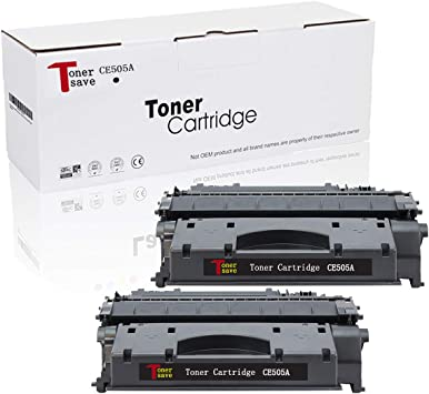 2PK CE505A 05A High Yield Toner Cartridge For HP LaserJet P2055d P2055dn P2055x