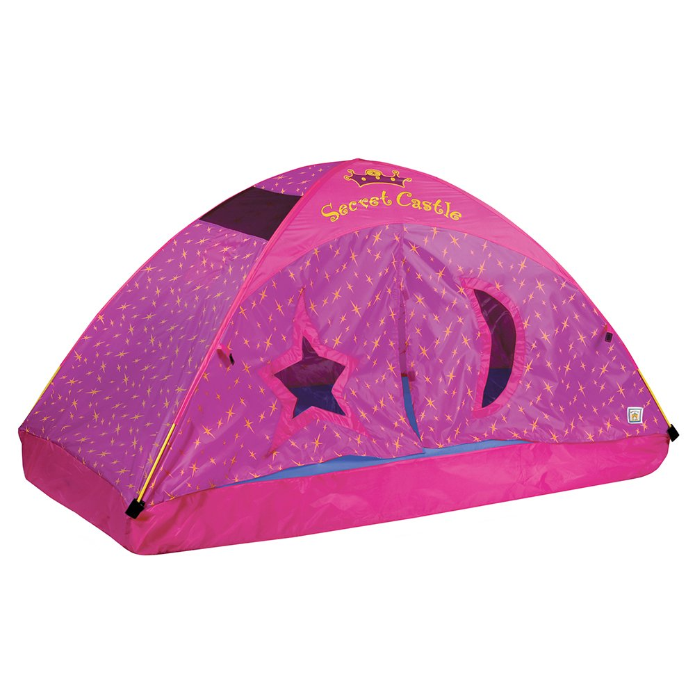 Pacific Play Tents Kids Secret Castle Bed Tent Playhouse - Twin Size 19720