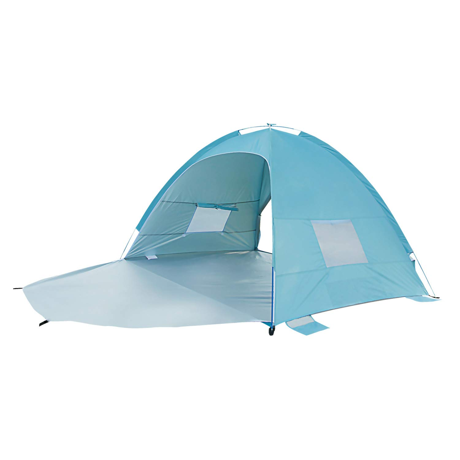 Sun-shelter Portable Beach Tent 2 or 3 Person Instant Camping Tent with UV Protection Beach Shade for Outdoor Activities (Light Blue) by Sun-shelter