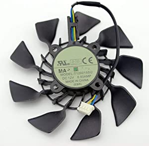 95MM Original T129215SU DC 12V 0.5A For ASUS GTX760 780 780TI R9 280 290 R9 280X 290X R9 390 390X GTX970 VGA Card Cooling Fan