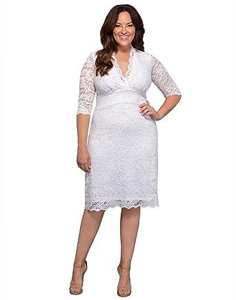 72c53facc795e Kiyonna Women s Plus Size Luxe Lace Wedding Dress at Amazon Women s Clothing  store