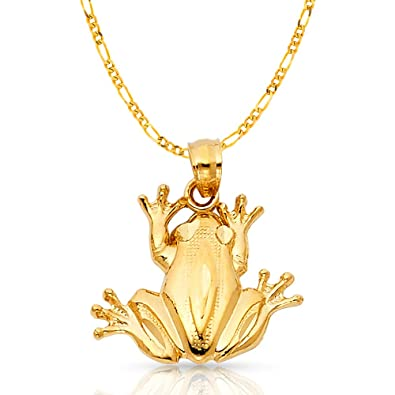 Gold Frog Charm Pendant