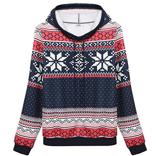 Christmas Snowflake Hoodie for Women