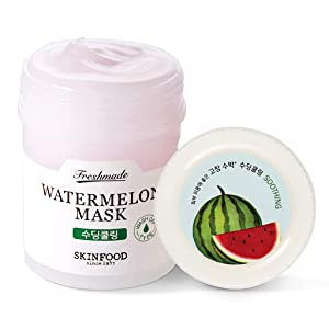 SKIN FOOD Freshmade Watermelon Face Mask 4.6 fl.oz (90ml) - Antioxidant Watermelon Vitamin Wash Off Mask, Helps Minimize Pores and Moisturizing, Fresh Watermelon Scent