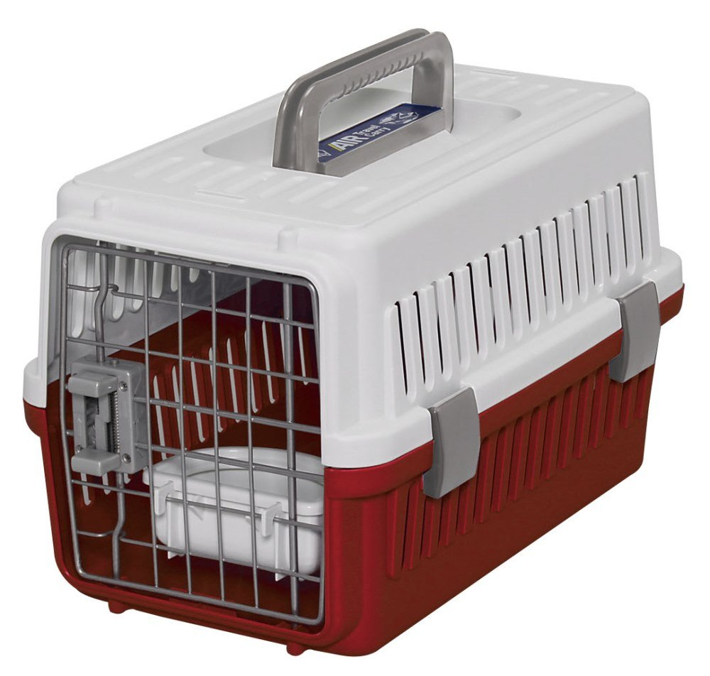 IRIS Dog Air Travel Carrier Crate, Red, Extra Small