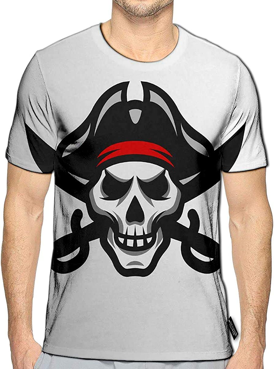 3D Printed T Shirts Pirate Elements A Party in Style Casual Mens Hipster Top Tees