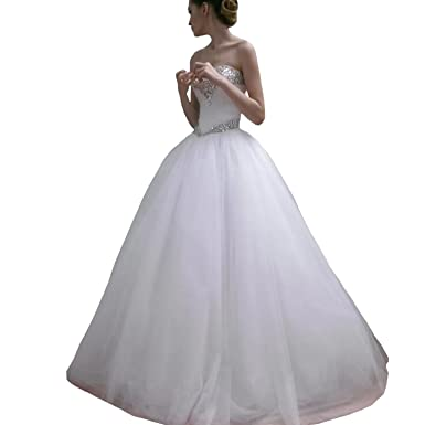Fair Lady Women\'s Ball Gown Wedding Dress for Bride Princess Crystal ...