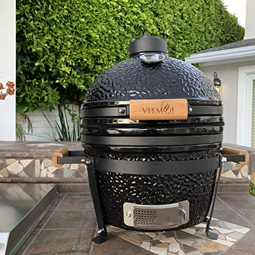 "Viemoi Kamado Grill MiniMax 16"" Kamado Charcoal Grill Barbecue Cooking"