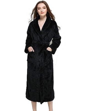 TieNew Bata Mujer Invierno Albornoz Bata de baño para Mujer, Kimono Mujer Batas Albornoz de
