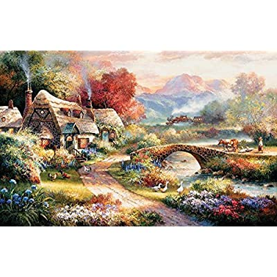 SUNSOUT INC Sunset Retreat 100 pc Jigsaw Puzzle: Toys & Games