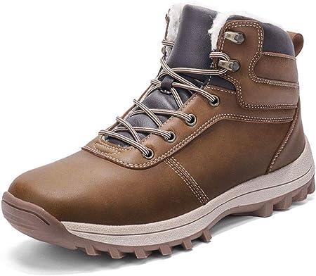 Botas de Nieve Hombre Impermeable Botas de Invierno Antideslizante Calientes Botines Sneakers