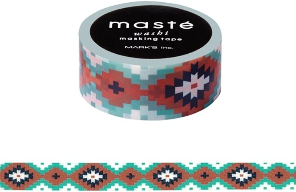 Maste Marks Washi Masking Deco Tape Standard Native Pattern Japan Edition