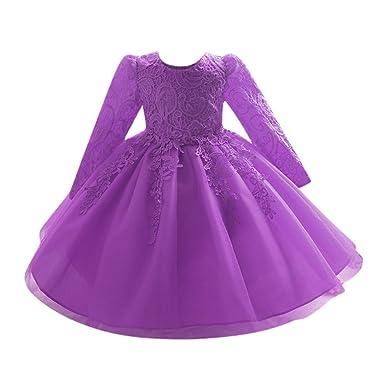 Kinder Mädchen Kleid Ulanda Baby Festlich Kinderkleid Blumensmädchenkleid  Festzug Hochzeit Prinzessin Kleid Bowknot Tutu Tulle Gown 27ea4a23c1