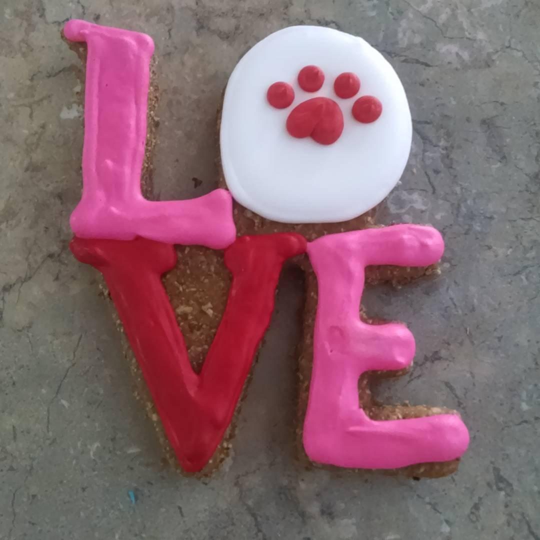 Valentine's Day Dog Treat LOVE