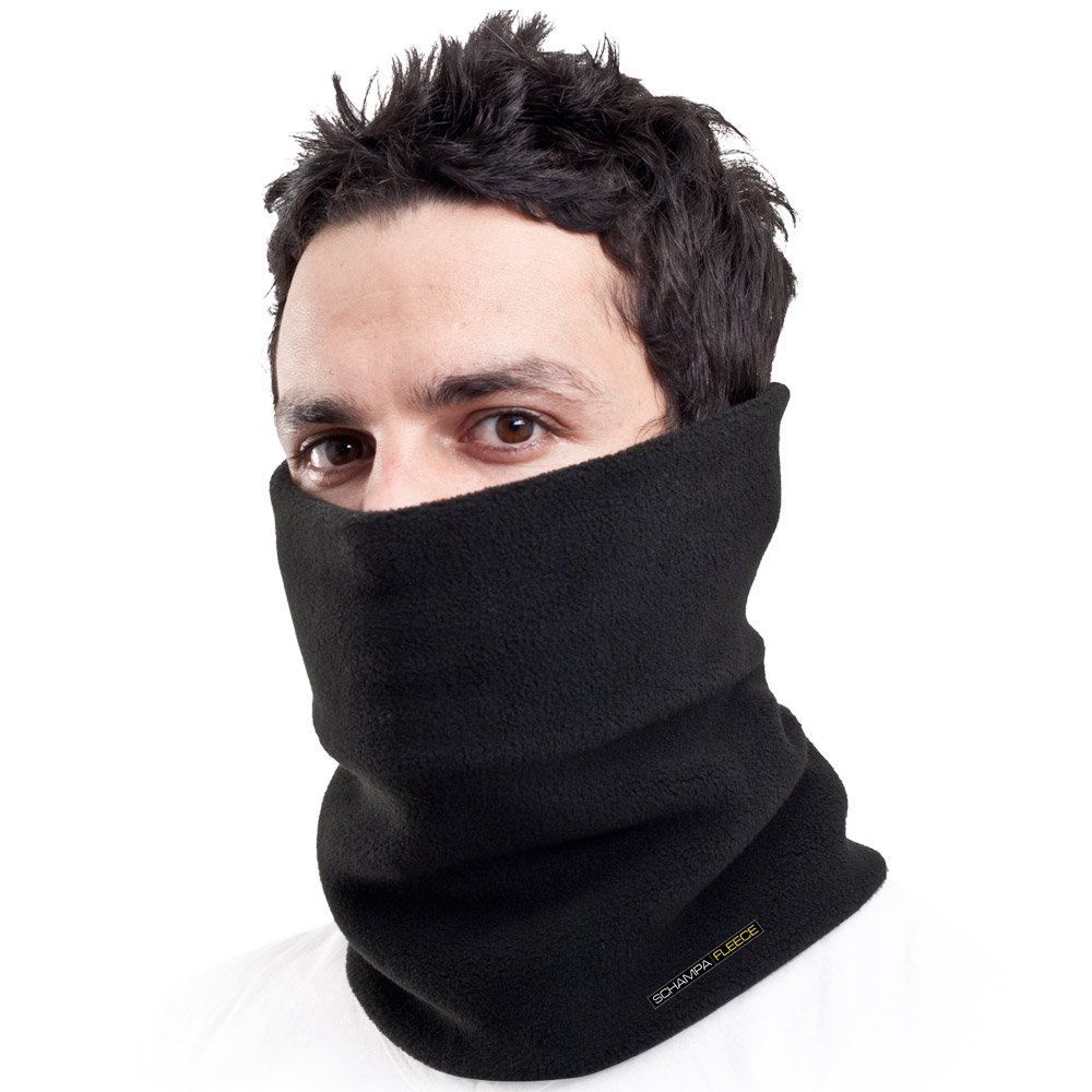 Schampa Double Layer Fleece Neck Gaiter (Black) by Schampa