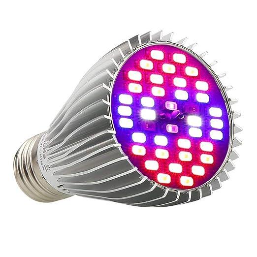 ABREOME Luz de Planta LED Grow Light E27 Lamparas LED Cultivo 30W 40 LEDs Plant Growth