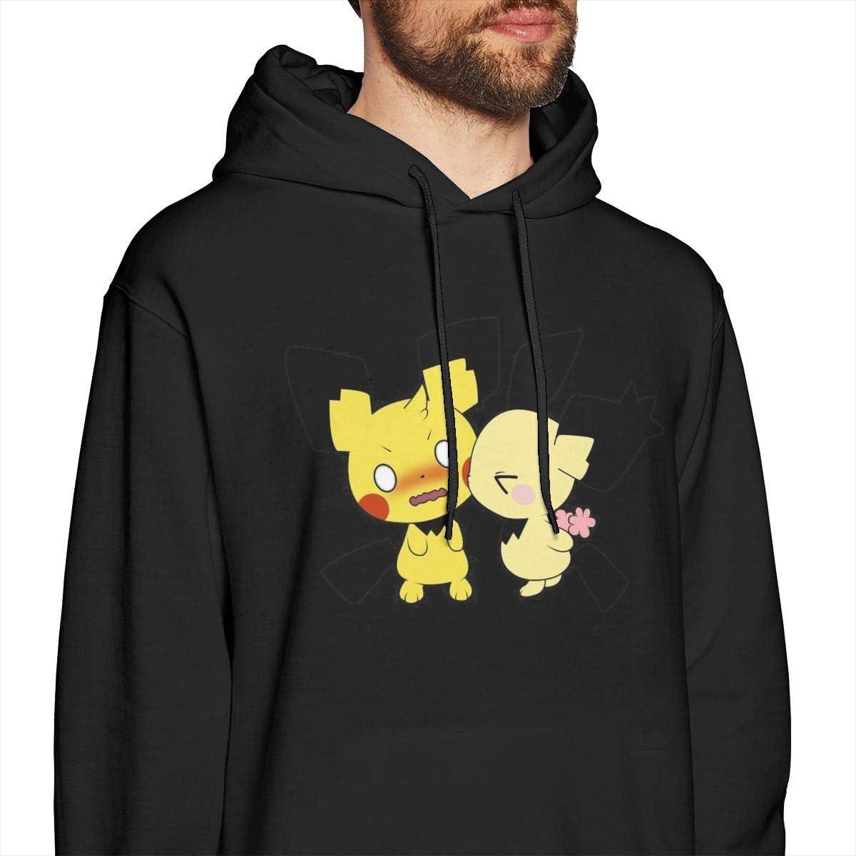 shotngwu All I Want for Christmas is Chu Pikachu Knit Pattern Mens Pullover Hoodies Crewneck Long Sleeve Sweatshirt Black Large|style2