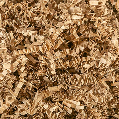 Crinkle Cut Paper Shred Filler (1 LB) for Gift Wrapping & Basket Filling - Kraft | MagicWater Supply -