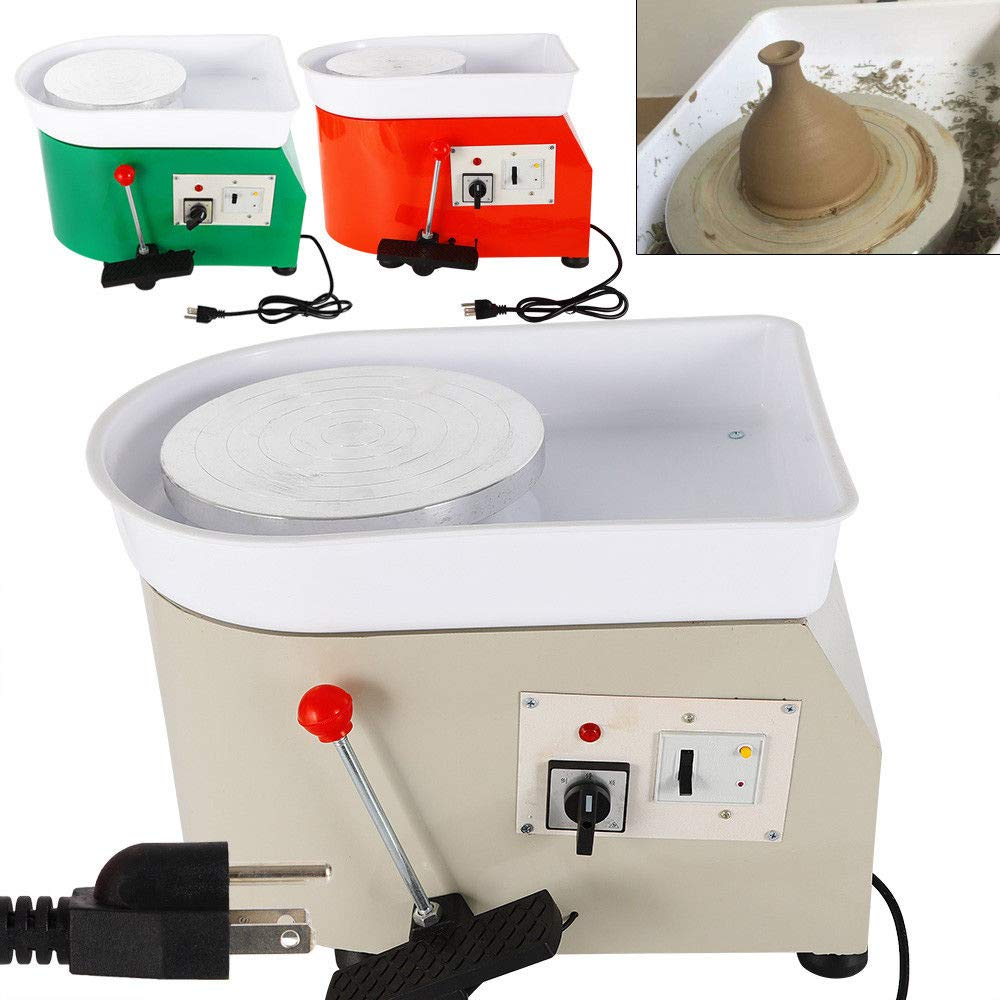 25CM 350W Pottery Wheel Machine Pottery Forming Machine DIY Clay Tool with Tray for Ceramic Work Ceramics Clay - Gray