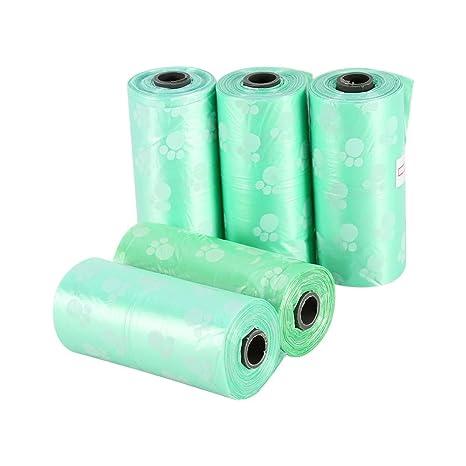5 rollos de bolsas de basura desechables pequeñas para ...