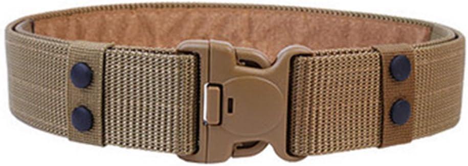 YooGer Cinturón táctico, Cinturón táctico Militar para Hombres al Aire Libre Cinturón Deportivo Ejército Militar táctico Cinturón con Hebilla para Pantalones - Caqui