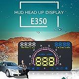 EFORCAR 5.8インチHUD ヘッドアップディスプレイ 超高輝度LED E350 OBD2 過速度アラームプラグアンドプレイ …