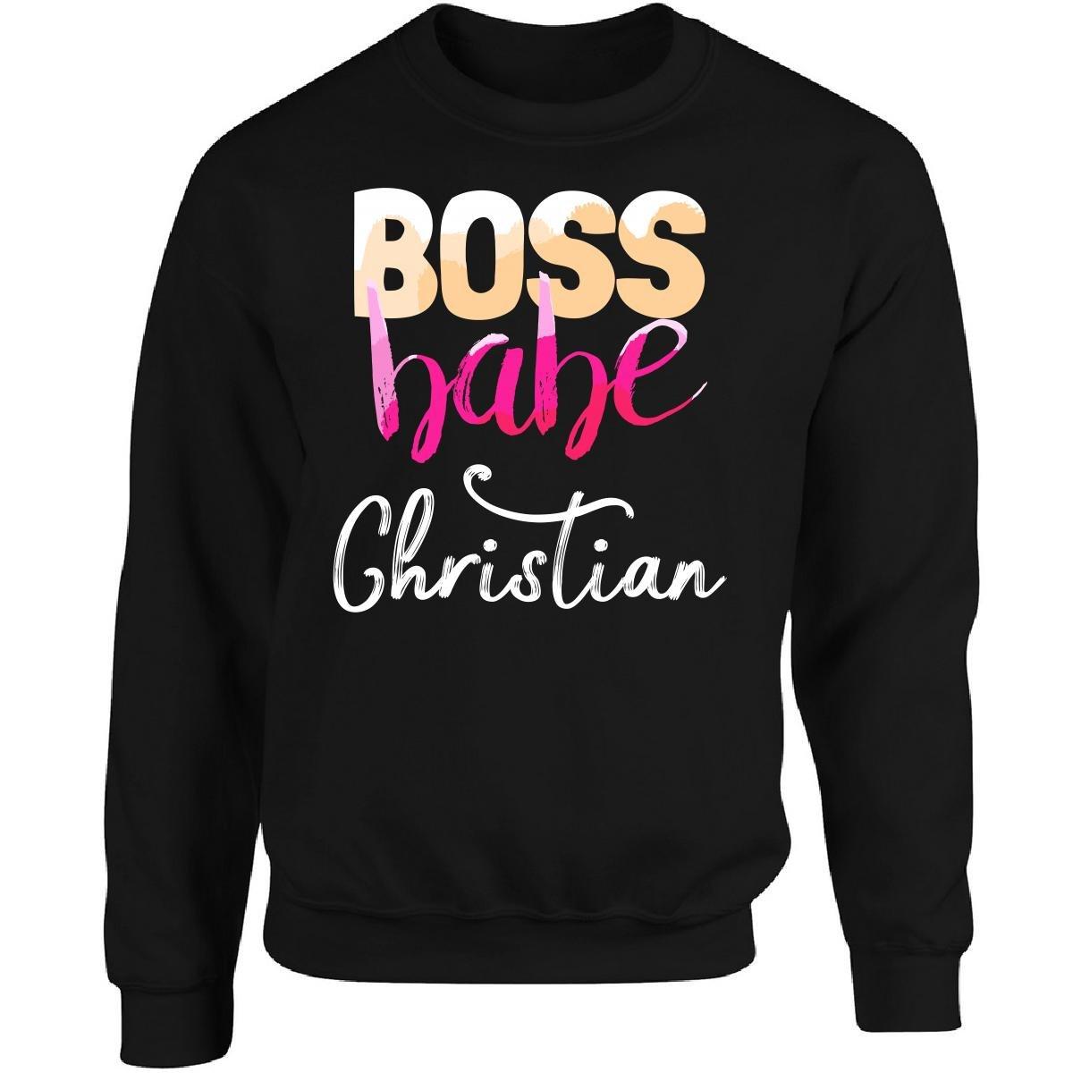 Amazon com: My Family Tee Boss Babe Christian Girl Name