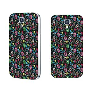 Stylish Phone Cases - Floral Series Pattern Designed Hard Plastic Case Cover Shell for Samsung Galaxy S4 I9500 Flower Case Skin (colorful peacock feather BY637)