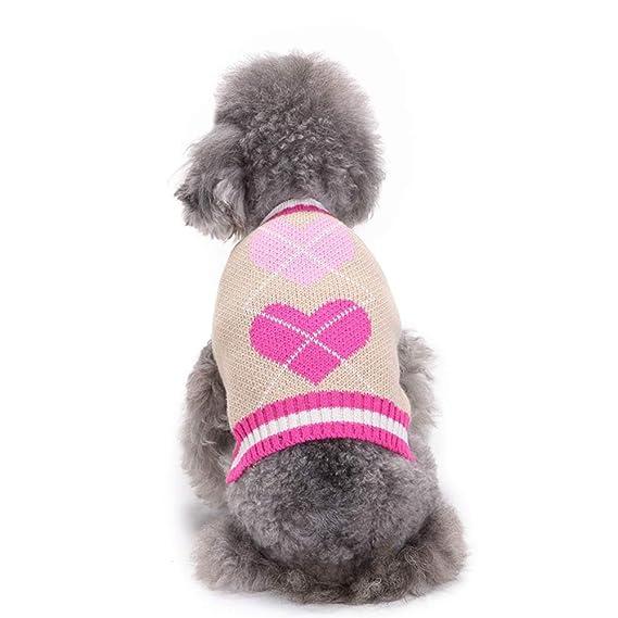 Ropa para Mascotas,Dragon868 Hermoso corazón Impreso Mascota Perro Cachorro Lindo suéter Ropa: Amazon.es: Ropa y accesorios