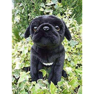 Faithful Friends Pug stuffed animal plush toy medium black: Toys & Games