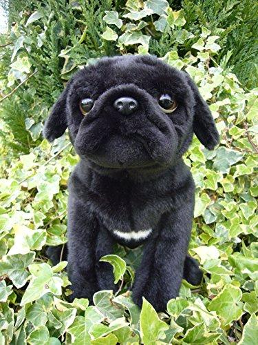 Faithful Friends Pug stuffed animal plush toy medium black Stuffed Pug Dog