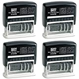 Cosco 2000 Plus Self-Inking Type Size 1 Micro Message Dater (011090), 4 Packs