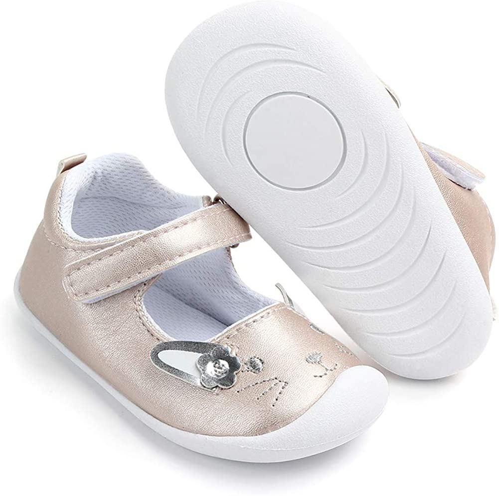 LACOFIA Ballerine per neonata Scarpe Primi Passi Antiscivolo per Bambina