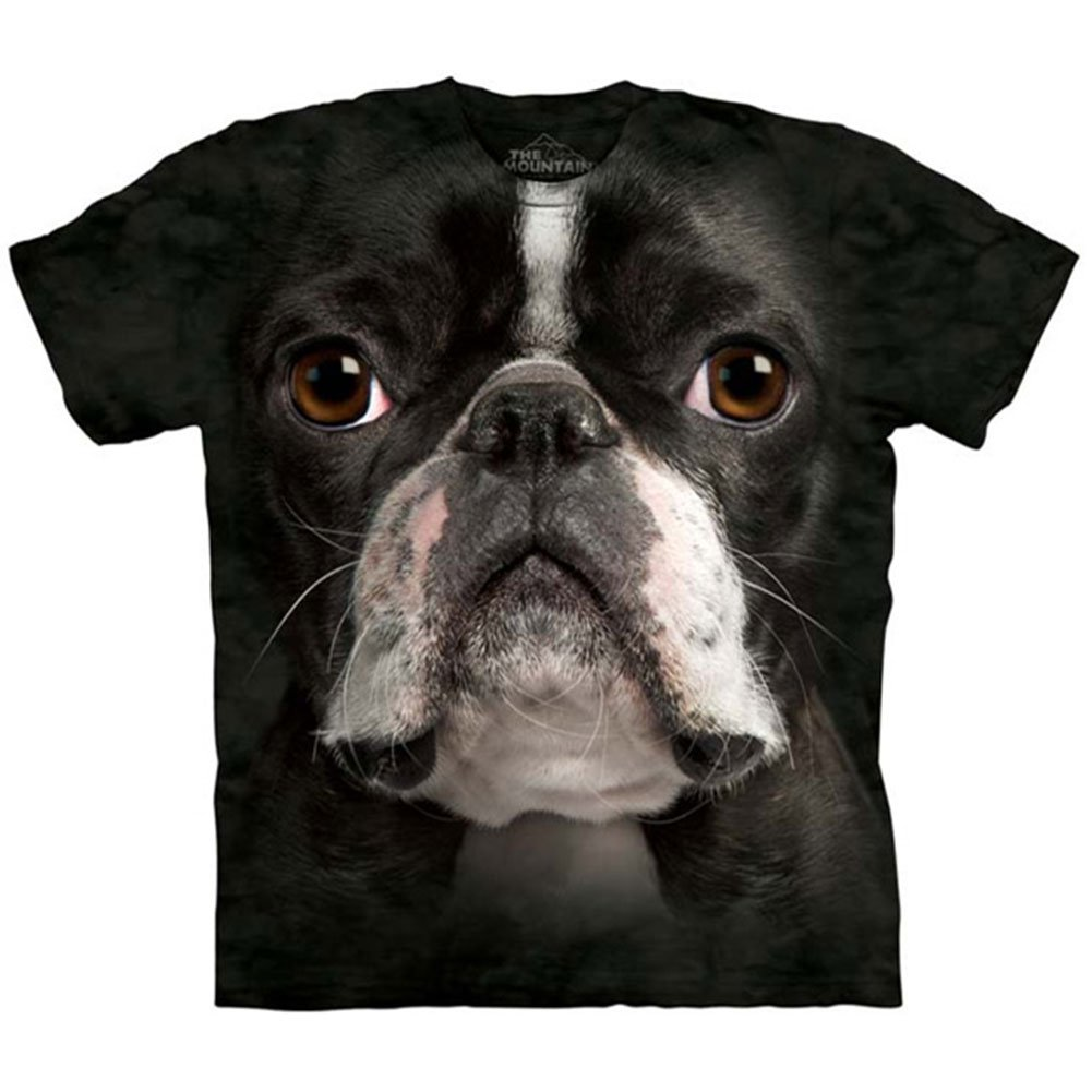 The Mountain Kids Boston Terrier Face T-Shirt