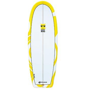 5 pies 2 pulgadas Funky Pig serie cuadrado cola Shortboard surf, amarillo