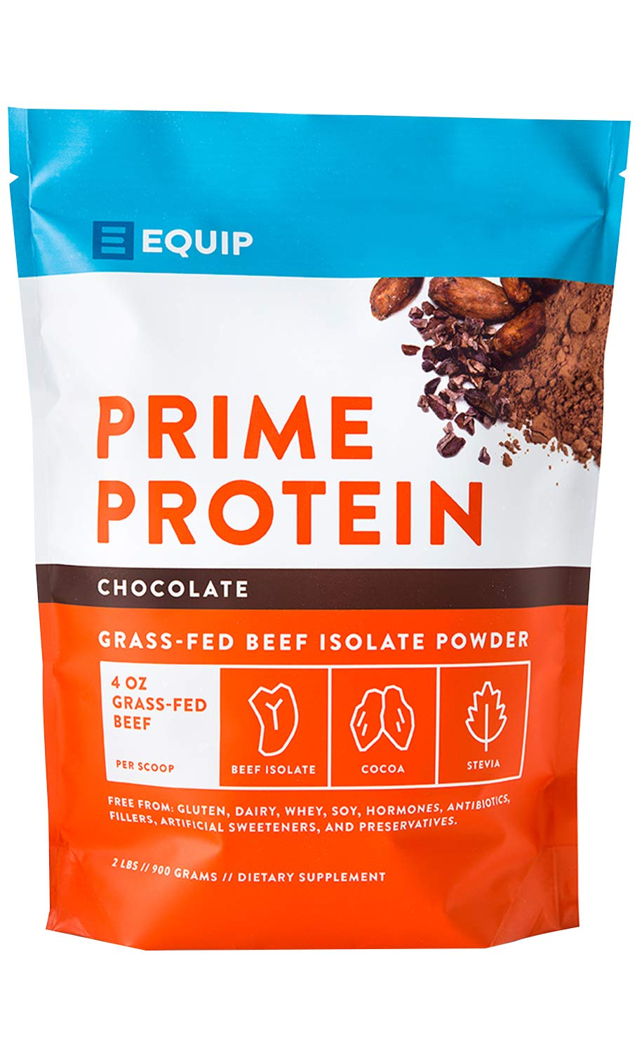 Beef Paleo Protein Powder: Keto Collagen Low Carb Ketogenic Diet Supplement Vital for Caveman & Carnivore Nutrition of Ancient Source. Best as Gelatin Muscle Meat Proteins Drink (Chocolate) by Equip